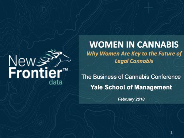 New Frontier Data- Giadha Aguirre De Carcer - Yale - Women in Cannabis Feb 2018