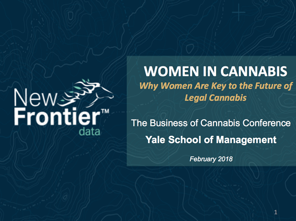 New Frontier Data- Giadha Aguirre De Carcer - Yale - Women in Cannabis Feb 2018